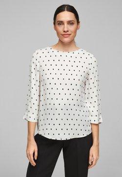 s.Oliver BLACK LABEL - Bluse - soft white aop dots