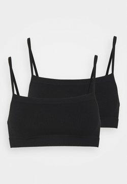 Cotton On Body - SEAMFREE STRAIGHT NECK CROP 2 PACK - Alustoppi - black