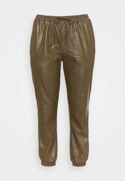 Glamorous Curve - ELASTICATED CUFF - Trousers - khaki
