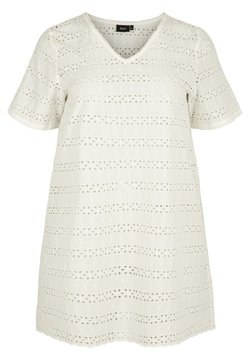 Zizzi - WITH BRODERIE ANGLAISE - Robe d'été - off-white