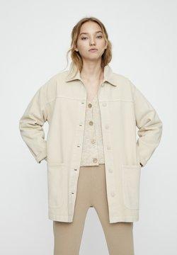 PULL&BEAR - Veste en jean - beige