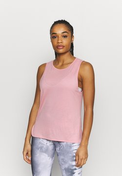 Casall - DRAPY MUSCLE TANK - Top - rising pink