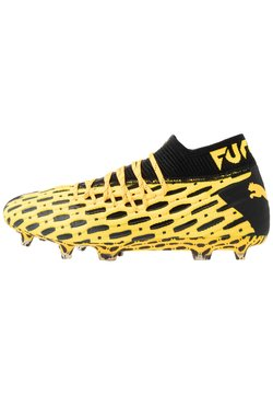 Puma - FUTURE 5.1 NETFIT FG/AG - Moulded stud football boots - ultra yellow/black