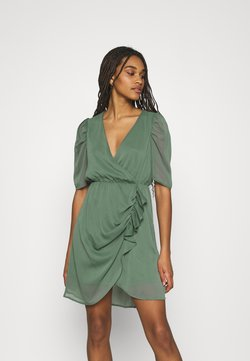 Vero Moda - VMJEAN WRAP DRESS  - Vestido de cóctel - laurel wreath
