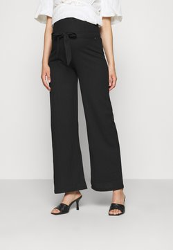 LOVE2WAIT - PANTS CRINCLE - Pantalones - black