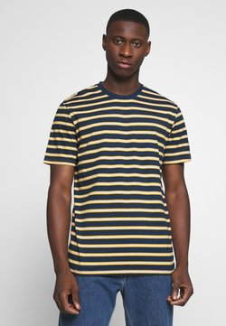 Only & Sons - ONSMEL LIFE STRIPE TEE - Print T-shirt - dress blues