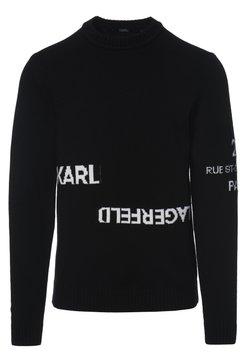KARL LAGERFELD - LOGO CREW NECK - Pullover - black