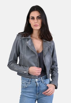 Oakwood - KYOTO - Veste en cuir - light grey