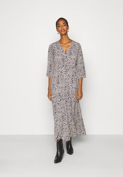 Object Tall - OBJNEEL LONG DRESS  - Maxikjoler - cloud dancer