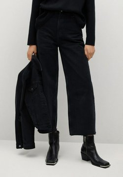 Mango - CAROLINE - Flared Jeans - black denim