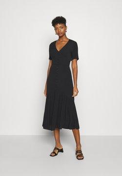 Glamorous - VNECK SHORT SLEEVE MIDI DRESS - Korte jurk - black