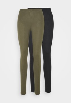 Even&Odd - 2 PACK - Legging -  black olive