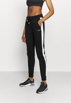 Fila - LAKI PANTS - Jogginghose - black/bright white