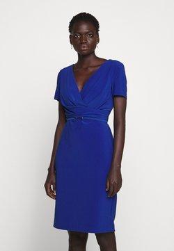 Lauren Ralph Lauren - BONDED DRESS BELT - Fodralklänning - summer sapphire