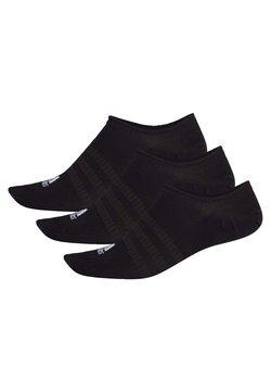adidas Performance - LIGHT NO-SHOW NO SHOW 3 PAIR PACK - Sportsokken - black