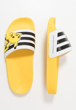 adidas Performance - ADILETTE SHOWER - Badesandaler - equipment yellow/core black/footwear white