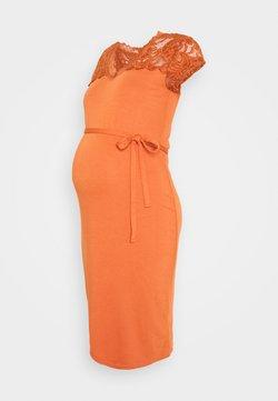 MAMALICIOUS - MLBLACKIE MIVANA CAP DRESS - Vestido informal - auburn