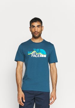 The North Face - MOUNTAIN LINE TEE - T-shirt imprimé - monterey blue