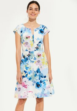 comma - MIT FARBENFROHEM FLORALMUSTER - Cocktailkleid/festliches Kleid - light blue summer flower