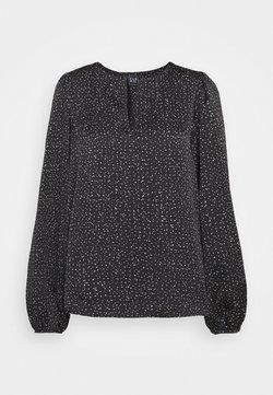 Gap Tall - SPLIT BLOUSON  - Bluse - black