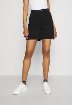 Monki - EMMA  - Szorty jeansowe - black dark