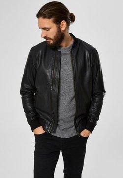 Selected Homme - SELECTED HOMME - Veste en cuir - black