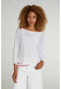 Oui - Strickpullover - white red