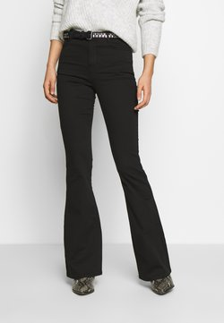 Missguided - LAWLESS FLARE - Flared Jeans - black
