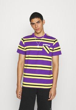 STAPLE PIGEON - STRIPED POCKET TEE UNISEX - T-Shirt print - yellow