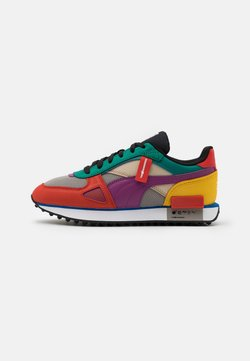 Puma - FUTURE RIDER THE HUNDREDS UNISEX - Sneaker low - molten lava/amethyst/white