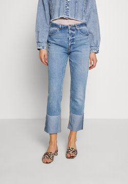 ONLY - ONLERICA LIFE FOLD - Straight leg jeans - medium blue denim