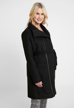 LOVE2WAIT - COAT DOUBLE ZIPPER - Mantel - black