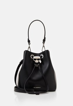 KARL LAGERFELD - IKONIK BUCKET BAG - Handtasche - black