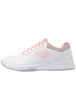 Lotto - SPACE 600 II - Multicourt Tennisschuh - all white/sweet rose/silver metal