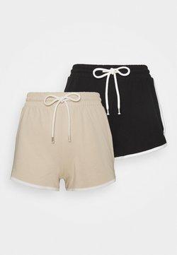 Monki - STINA 2 PACK - Jogginghose - beige/black