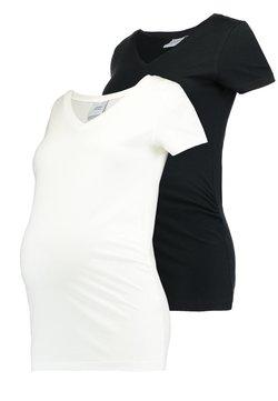 MAMALICIOUS - MLANNIA 2 PACK  - T-shirt basic - black/snow white
