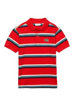 Lacoste - Poloshirt - rot/weiß