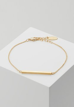 Orelia - HORIZONTAL BAR CHAIN BRACELET - Armband - pale gold-coloured