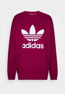 adidas Originals - ADICOLOR TREFOIL LONG SLEEVE - Sweatshirt - power berry/white