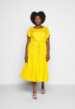 MY TRUE ME TOM TAILOR - DOBBY DRESS - Freizeitkleid - deep golden yellow