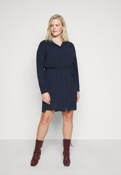 Vero Moda Curve - VMSAGA DRESS  - Blusenkleid - navy blazer