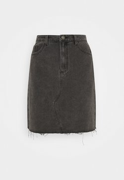 Vila - VICANIANA SKIRT - Minirock - dark grey denim