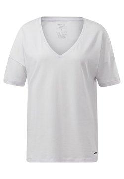 Reebok - ACTIVCHILL+COTTON T-SHIRT - Camiseta estampada - white