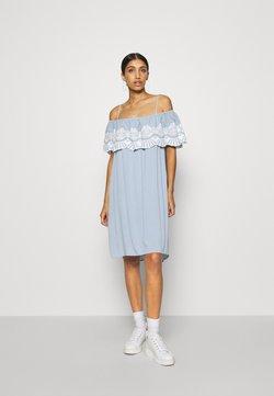 Vila - VILATTI SHORT DRESS - Freizeitkleid - ashley blue