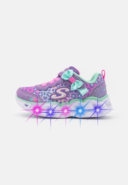 Skechers - HEART LIGHTS - Matalavartiset tennarit - lavender/aqua/pink