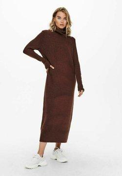 ONLY - EXTRALANG - Stickad klänning - chocolate fondant