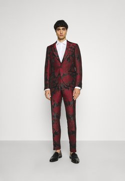 Twisted Tailor - LORRIS SUIT - Completo - black/red