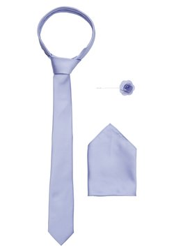 Burton Menswear London - WEDDING PLAIN WITH MATCHING FLOWER PIN SET - Krawatte - purple
