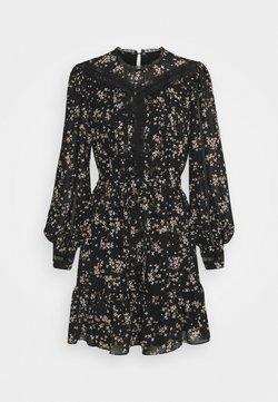 Forever New - LACE SPLICED SKATER - Korte jurk - black jasmine
