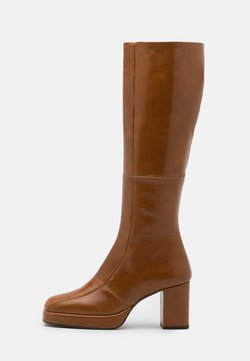 Office - KAY PLATFROM KNEE HIGH BOOT - Stivali con plateau - tan